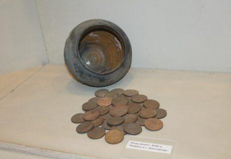 Клад монет XVIII века, найденный в Белгороде. Фото Анны Кущенко