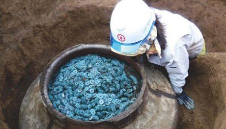 В Японии нашли загадочный клад